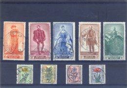 Nrs. 814/822 Met Rondstempels 42,50 Côte - België