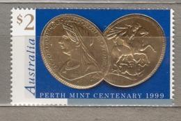 AUSTRALIA 1999 Coins On Stamps Mi 1824 MNH (**) #24934 - 1990-99 Elizabeth II