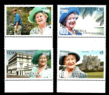 ANGUILLA 2000  100th BIRTHDAY QUEEN MOTHER,CASTLES SET MNH - Anguilla (1968-...)
