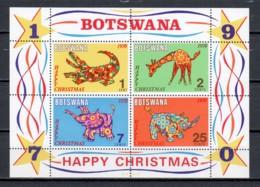 Botswana 1970 Mi Block 4 MNH X-MAS - ANIMALS - Botswana (1966-...)