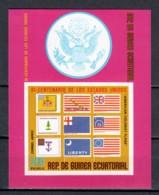 Equat. Guinea 1975 Mi Block 167 MNH BICENTENIAL UNITED STATES - FLAGS - Unabhängigkeit USA