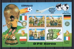 Korea North 1982 Mi Block 124 MNH SOCCER - CONCORDE - World Cup