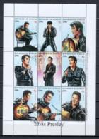 Senegal 1999 Kleinbogen Mi 1615-1623 ELVIS PRESLEY - Elvis Presley