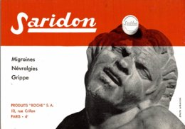 BUVARD  SARIDON  PRODUITS ROCHE PARIS - Produits Pharmaceutiques