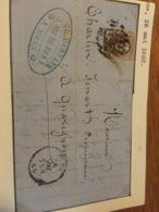 Lettre De Mons Pour Quaregnon N*10a 1860 - Belgium