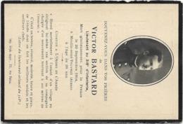 IMAGES PIEUSES FAIRE PART DECES MILITAIRE VICTOR BASTARD LIEUTENANT 318 INFANTERIE MORT A MOULIN SOUS TOUVENT 02 1914 - Overlijden