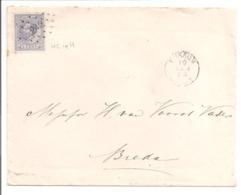 Willem III Emisie 1872 5ct NVPH19. Puntstempel 242 Bussum 19.1.88 - Cartas