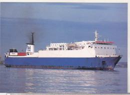 England Uncirculated Postcard - Ships - Ferries - Bison Departing Dublin - Fähren