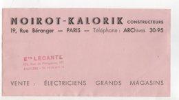 BUVARD  NOIROT-KALORIK CONSTRUCTEURS  MATCHLESS LE FER A REPASSER Ets LECANTE ANGOULEME - Vloeipapier