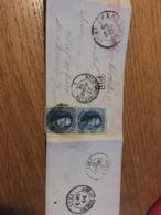 Lettre Blaton Pour Wavrechain Sous Denain 1861 + Ambulant Du Midi 1 + Ps+bel A Quievrain - Belgium