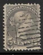 Michel 29bA - 5 C Gris Noir - O - Used Stamps