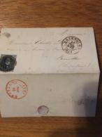 Lettre Bxl Pour Bouillon 1851 - Belgium