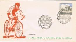 34433. Carta BARCELONA 1974. 54 Volta Ciclista. Ciclismo. Etapa LLEIDA (Lerida) - 1931-Hoy: 2ª República - ... Juan Carlos I