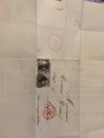 Lettre Dînant Pour Leglise 1857 Avec Paire N*6 - Belgium