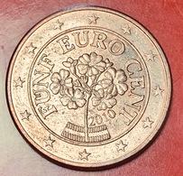 AUSTRIA - 2010 - Moneta - Primula Di Montagna - Euro - 0.05 - Austria