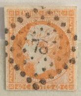 Timbre France YT 16 (°) 1853-60 Napoléon III, 40c Jaune-orange Petits Chiffres 78 Angers (47) (côte 15 Euros) – 7 - 1853-1860 Napoléon III.