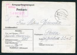 1940 Germany Kriegsgefangenenpost Polish POW Censor Postcard. Oflag II C Dobiegniew / Woldenberg - Posen - Germany