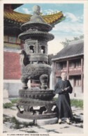 AO34 Religion - A Lama Priest And Incense Burner - Buddhism