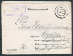 1945 Germany Kriegsgefangenenpost Polish POW Censor Oflag VI-B Dössel Warburg - Krakau - Germany