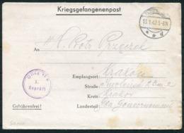 1942 Germany Kriegsgefangenenpost Polish POW Censor Oflag VI-E Dössel Warburg - Krakau - Germany