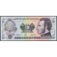 TWN - HONDURAS 85b - 5 Lempiras 30.8.2001 Prefix AP - Printer: CANADIAN BANK NOTE COMPANY LIMITED UNC - Honduras