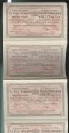 Billet Loterie Royale De Hongrie - 4 X 1/4 De Billet Tirage De Décembre 1909 - Biglietti Della Lotteria