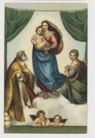AJ26 Religious Art - Die Sixtinische Madonna By Raffaello Sanzio - Paintings, Stained Glasses & Statues