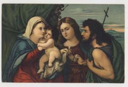AJ26 Religious Art - Maria Mit Dem Kinde Und Zwei Heiligen - Paintings, Stained Glasses & Statues