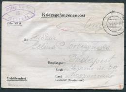 1940 Germany Kriegsgefangenenpost POW Censor Werdenfelser Barracks Oflag VII A Murnau Am Staffelsee - Budapest - Germany
