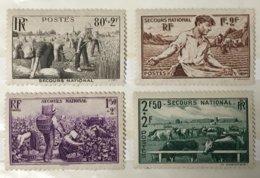 YT 466 à 469 (*) 1940, Au Profit Du Secours National Moisson Semailles Vendanges Elevage (côte 8,50 Euros) – 102 - Ongebruikt