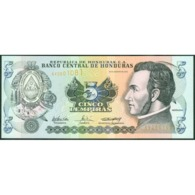 TWN - HONDURAS 85d - 5 Lempiras 26.8.2004 Prefix AV - Printer: CANADIAN BANK NOTE COMPANY LIMITED UNC - Honduras