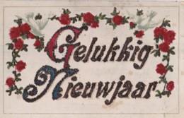 AQ71 Greetings - Gelukkig Nieuwjaar - Glitter, Doves - New Year