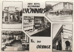 CPSM 84 ORANGE CAFE LE LYONNAIS ROUTIER RN 7 ?  PEU COURANTE - Orange