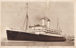 AO32 Shipping - Orient Line RMS Orontes - Official Postcard - Steamers