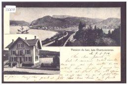 DISTRICT DE LA VALLEE - LES CHARBONNIERES - PENSION DU LAC - ( PLI HORIZONTAL ) - VD Vaud
