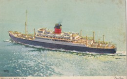 AO32 Shipping - Cunard White Star Line Parthia - Artist Signed Walter Thomas - Steamers