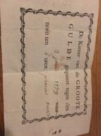 Placard 14x10cm 1779 De Groote Gulde .... - Affiches
