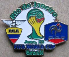 Pin FIFA 2014 Group E Ecuador Vs France - Fussball