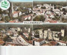 33 - Carte Postale Semi Moderne Dentelée De VILLANDRAUT  Multi Vues - Other Municipalities