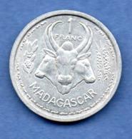 Madagascar  -  1 Franc 1958  -  état  TTB+ - Madagascar