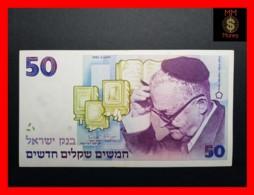 ISRAEL 50  New Sheqalim 1992  P. 55 C  VF + - Israel