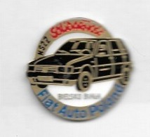 Pin's  Automobile  FIAT  Noire  Auto  Poland, BIELSKO  BIALA, NS 22  SOLIDARNORC - Fiat