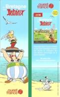 BD - Marque-page - En Bretagne Avec Astérix - éd. Ouest-France 2019 - Bookmarks