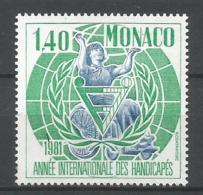 MONACO ANNEE 1981 N°1276 NEUF** NMH - Unused Stamps