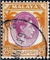 Singapore 1948 - Mi 14A -  YT 14A ( King George VI ) Perf. 14 - Singapur (...-1959)