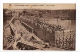 L'ISLE JOURDAIN - 86 - Vienne - Le Barrage De Chardes - Vue Des Travaux - L'Isle Jourdain