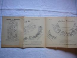 Dépliant Pub Pour Calendriers Et Thermomètres 1898 Dessins De Kastor - Publicidad