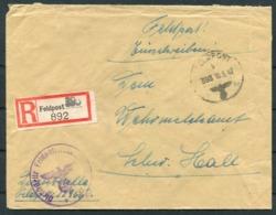 1942 Germany Einschreiben Feldpost Brief / Registered Fieldpost Cover - Germany
