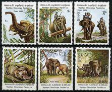 """Laos YT 376 à 381 """" L'éléphant D'ASie """" 1982 Neuf** - Laos"""
