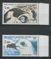 TAAF 1985  N° 109/110 ** Neufs MNH Superbes C 3.10 € Faune Oiseaux Manchot Empereur Pétrel Birds Animaux - Terres Australes Et Antarctiques Françaises (TAAF)